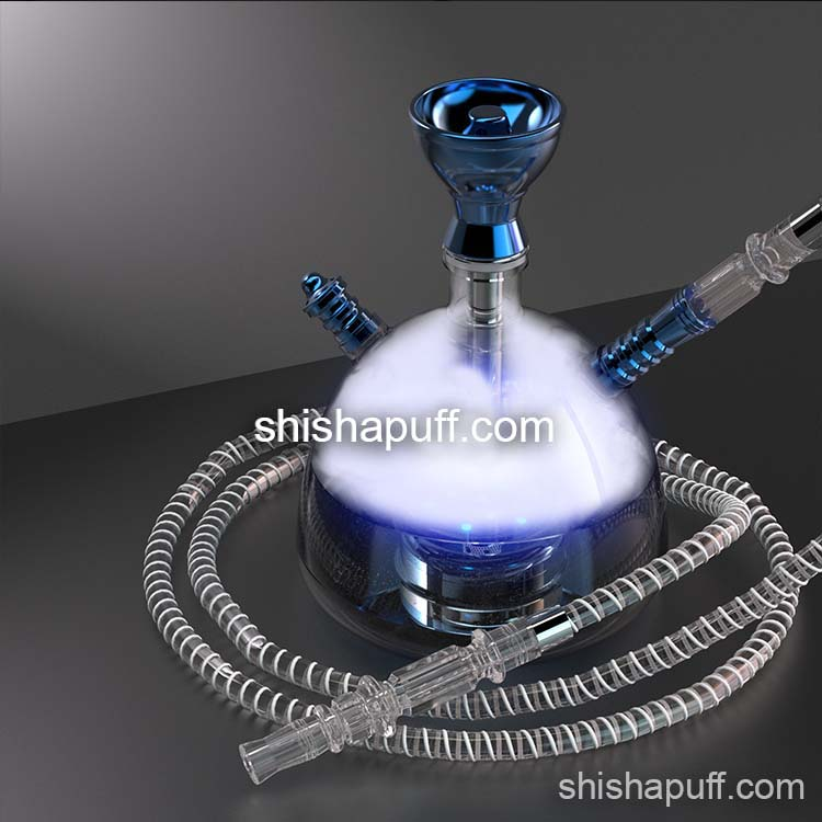 Blue modern acrylic hookah bluetooth led