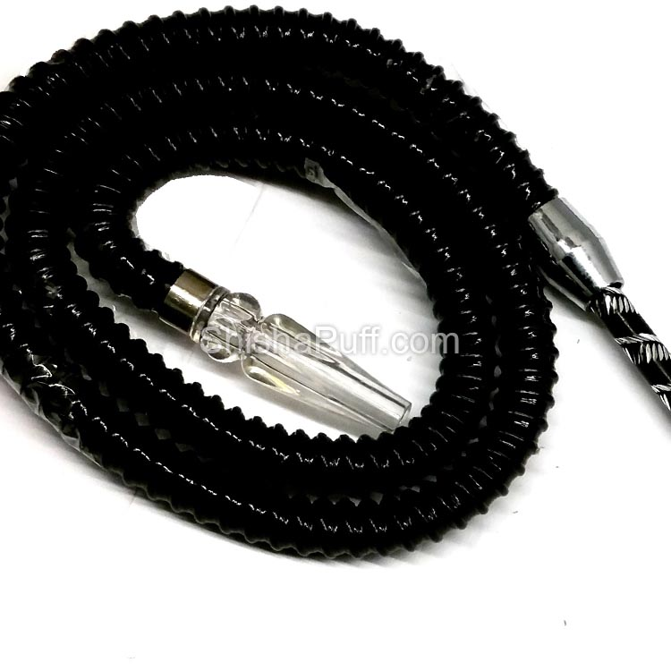 french hose shisha pipe black