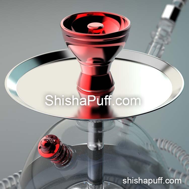 red modern acrylic hookah bluetooth led shisha