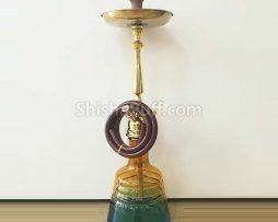 Hookah Deluxe Class Gold Glass Shine