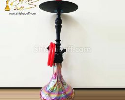 Hookah Deluxe Class Red Glass Shine