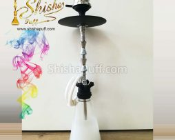 Hookah Deluxe Class White M Glass Shine