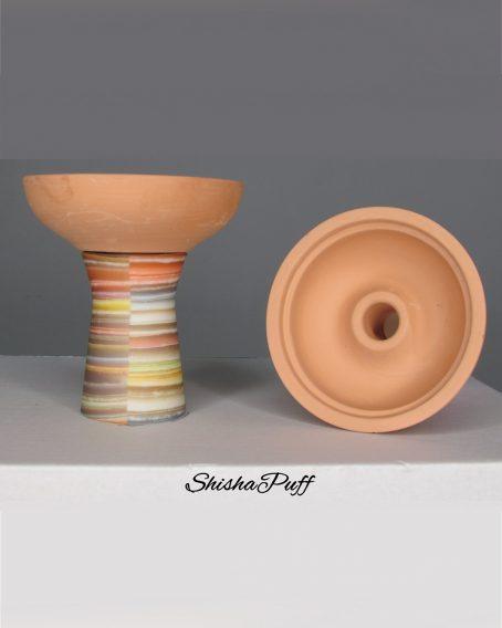 Silicone Ceramic Head Antique Colors Round bowl hookah For Kaloud - Shisha Puff Cyprus Hookah