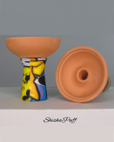 Silicone Ceramic Head graffiti color Round bowl hookah For Kaloud - Shisha Puff Cyprus Hookah