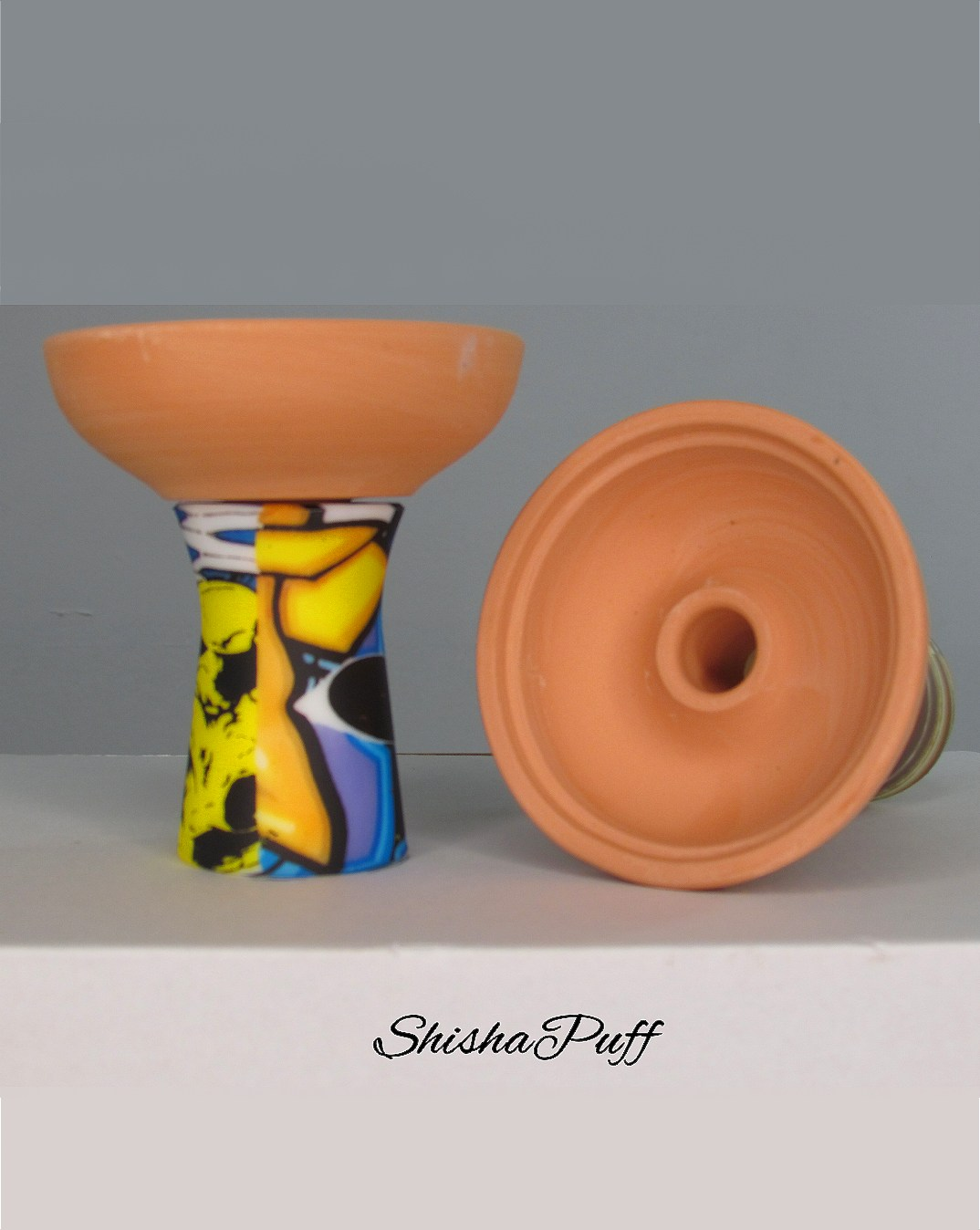 Silicone Ceramic Head graffiti color Round bowl hookah For Kaloud - Shisha Puff Cyprus Hookah