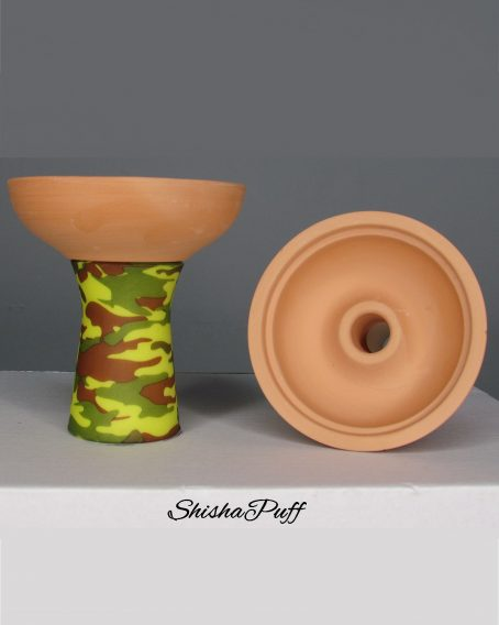 Silicone Ceramic Head Army Green Round bowl hookah For Kaloud