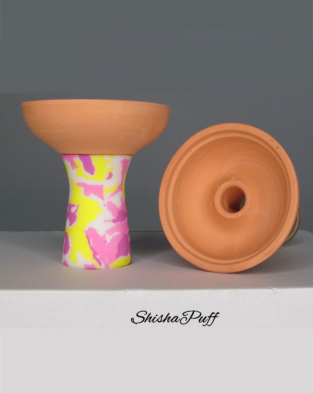 Silicone Ceramic Head rose Round bowl hookah For Kaloud - Shisha Puff Cyprus Hookah