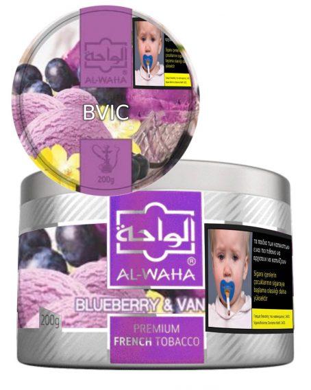Blueberry Vanilla ice Alwaha Cyprus tobacco shisha Puff Flavor Limassol online order