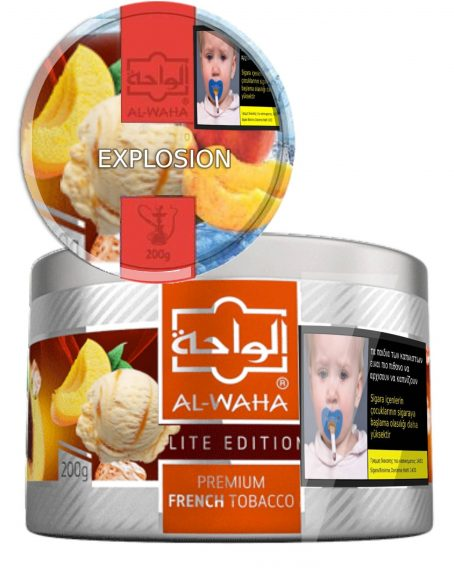 Peach ice cream explosion Alwaha Flavor Shisha puff Limassol Cyprus Order online